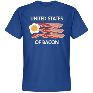 United States Of Bacon Unisex Anvil Lightweight Fashion Tee