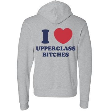 Upperclass Bitches Unisex Canvas Fleece Pullover Hoodie