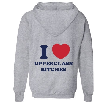Upperclass Bitches Unisex Gildan Heavy Blend Hoodie