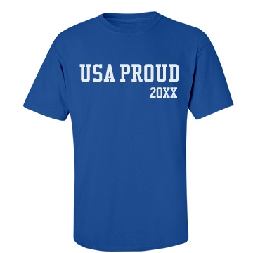 USA Proud Mens Tee Unisex Port & Company Essential Te