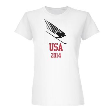 USA Skiing Junior Fit Basic Bella Favorite Tee