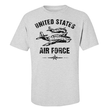 USAF Military Distressed Unisex Port & Company Essential Tee