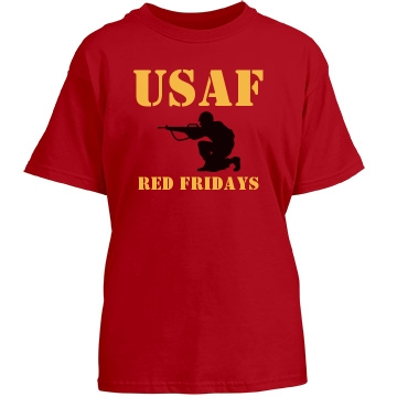 USAF Red Fridays Youth Youth Gildan Heavy Cotton Crew Neck Tee