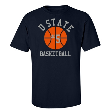Ustate Basketball Unisex Gildan Heavy Cotton Crew Neck Tee