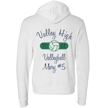 Valley High Volleyball Unisex Canvas Fleece Full-Zip Hoodie