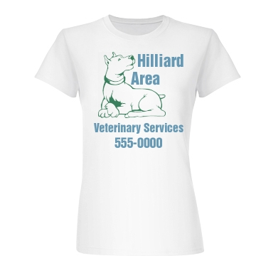 Veterinary Services Tee Junior Fit Basic Bella Favorite Tee