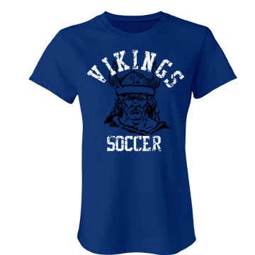 Vikings Soccer Distessed Junior Fit Bella Favorite Tee