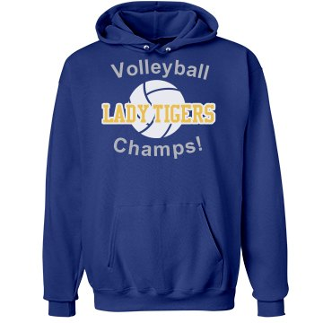 Volleyball Champs Hoodie Unisex Hanes Ultimate Cotton Heavyweight Hoodie