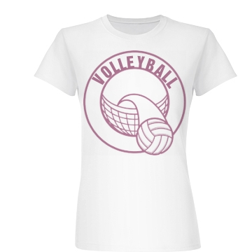 Volleyball Fan Junior Fit Basic Bella Favorite Tee