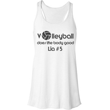 VolleyBall Girl Bella Flowy Lightweight Racerback Tank Top