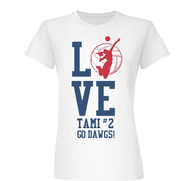 Volleyball Love Junior Fit Basic Bella Favorite Tee