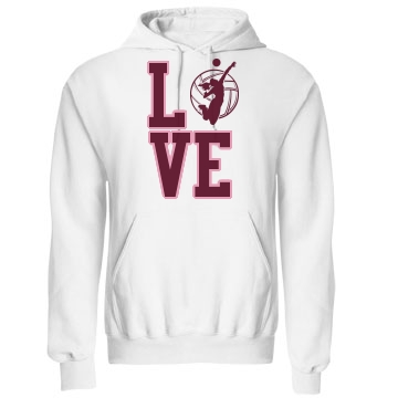 Volleyball Love Unisex Gildan Heavy Blend Hoodie