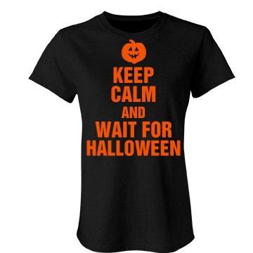 Wait For Halloween  Junior Fit Bella Favorite Tee