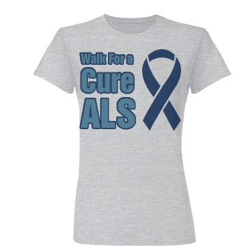 Walk For A Cure ALS Junior Fit Basic Bella Favorite Tee