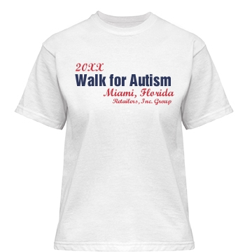 Walk For Autism Misses Relaxed Fit Gildan Heavy Cotton Tee