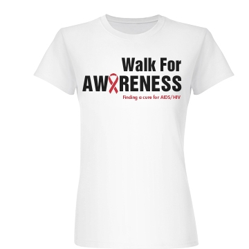Walk For Awareness Junior Fit Basic Bella Favorite Tee