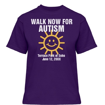 Walk Now For Autism Misses Relaxed Fit Gildan Heavy Cotton Tee
