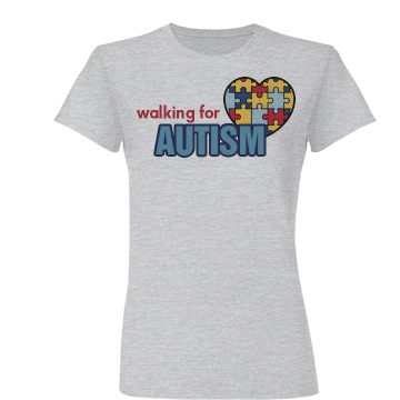 Walking For Autism Puzzle Junior Fit Basic Bella Favorite Tee