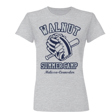 Walnut Summer Camp Junior Fit Basic Bella Favorite Tee