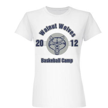 Walnut Wolves Basketball Junior Fit Basic Bella Favorite Tee