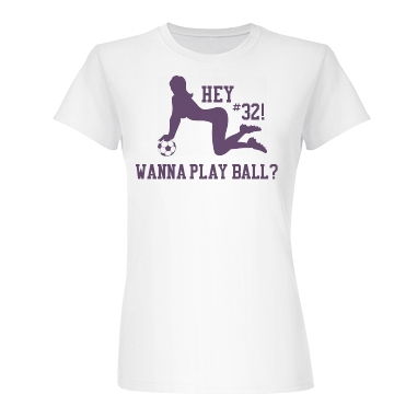 Wanna Play Some Ball? Junior Fit Basic Bella Favorite Tee