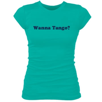 Wanna Tango Junior Fit Bella Sheer Longer Length Rib Tee