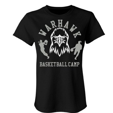 Warhawk Basketball Camp Junior Fit Bella Favorite Tee