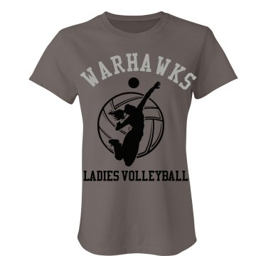 Warhawks Volleyball T Junior Fit Bella Favorite Tee