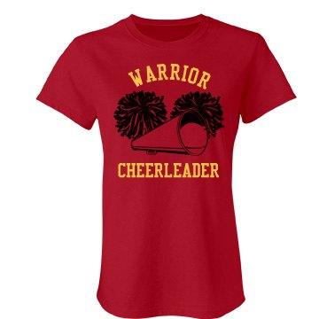 Warrior Cheer w/Back Junior Fit Bella Favorite Tee