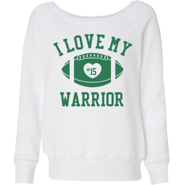 Warrior Sports Sweatshirt Junior Fit Bella Triblend Slouchy Wideneck Sweatshirt
