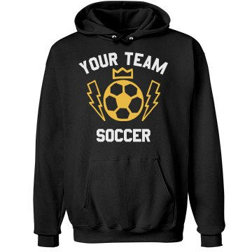 Warriors Soccer Hoodie Unisex Hanes Ultimate Cotton Heavyweight Hoodie