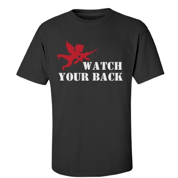 Watch Your Back Unisex Gildan Heavy Cotton Crew Neck Tee