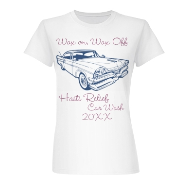 Wax On Wax Off Car Wash Junior Fit Basic Bella Favorite Tee