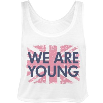We Are Young Bella Flowy Boxy Lightweight Crop Top Tank Top