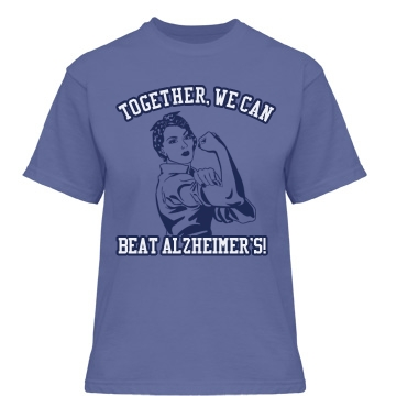 We Can Beat Alzheimer's Misses Relaxed Fit Gildan Heavy Cotton Tee