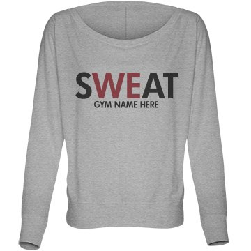 We Sweat at the Gym Bella Flowy Lightweight Long Sleeve Dolman Tee