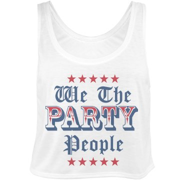 We the Party People Bella Flowy Boxy Lightweight Crop Top Tank Top