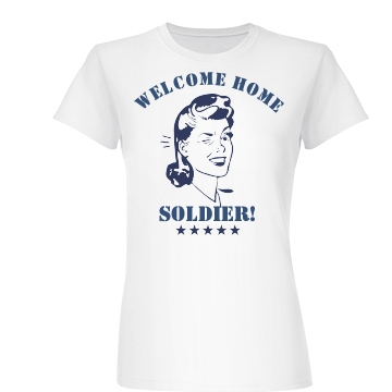 Welcome Home Soldier Junior Fit Basic Bella Favorite Tee