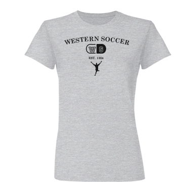 Western Soccer Alumni Junior Fit Basic Bella Favorite Tee