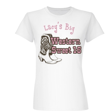 Western Sweet Sixteen Junior Fit Basic Bella Favorite Tee