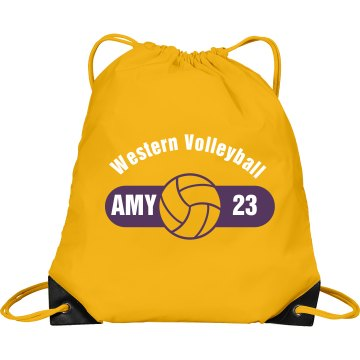 Western Volleyball Bag Port & Company Drawstring Cinch Bag