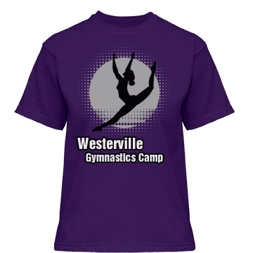 Westerville Gymnastics Misses Relaxed Fit Gildan Heavy Cotton Tee
