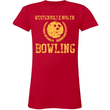 Westerville North Bowling Junior Fit LA T Fine Jersey Tee