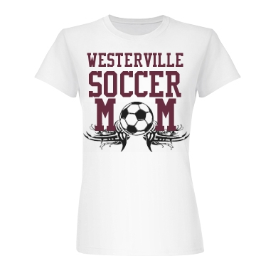 Westerville Soccer Mom Junior Fit Basic Bella Favorite Tee