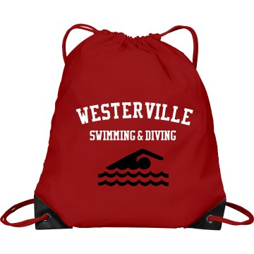 Westerville Swim Bag Port & Company Drawstring Cinch Bag