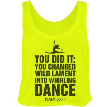 Whirling Dance Psalm 30 Bella Flowy Boxy Lightweight Crop Top Tank Top