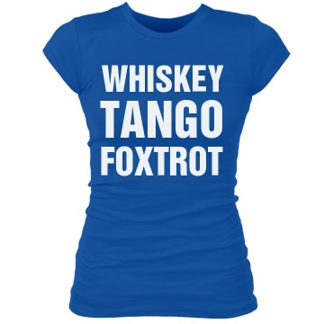 Whiskey Tango Foxtrot Junior Fit Bella Sheer Longer Length Rib Tee