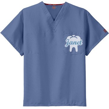 White Tooth Scrub Top