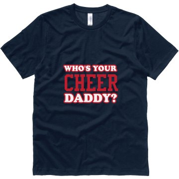Who's Your Cheer Daddy? Unisex Canvas Jersey Tee