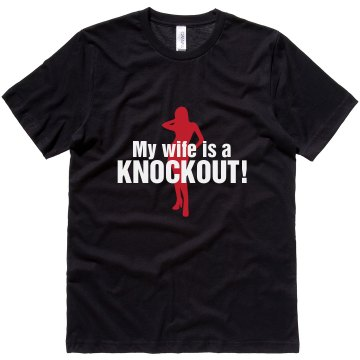 Wife Is A Knockout Unisex Canvas Jersey Tee